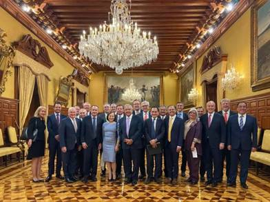 imagen de la noticia AMLO recibe a representantes de la Americas Society Council of the Americas en Palacio Nacional